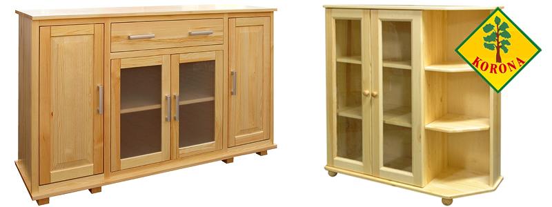 meble sosnowe lublin garderoby z drewna kredensy i komody